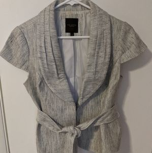 The Limited Short Sleeve Belted Blazer Tweed small